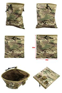 [Visit to Buy] Military Molle Belt Magazine Pouch Tactical Magazine Dump Drop Reloader Pouch Airsoft Accessory Utility Bag Hunting Bags #Advertisement