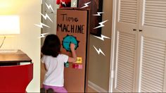 DIY Time Machine--Did you know that a cardboard box can transport kids to the past and future? It works for parents, too!