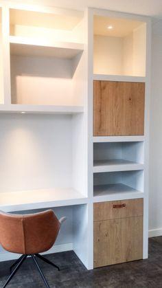 Kastenwand – werkplek in de woonkamer – Creatief op maat