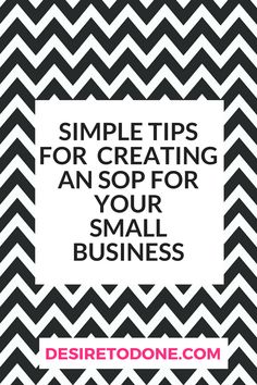 Simple Tips For Creating An Sop For Your Small Business  Standard