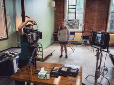 Summer interns Emily and Rachel testing filters with the ARRI AMIRA, Zeiss Superspeed, Sony monitor and a whole assortment of filters. Zeiss, Feature Film, Workplace, Monitor, Sony, Filters, Boston, This Is Us, Check