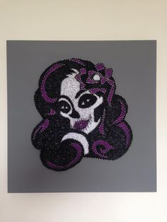 Hand made - Sugar Skull string art - £35 - UK delivery only - to order please message at facebook.com/stringartaw - 400mm x 400mm x 12mm