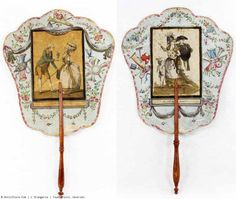 A XVIIIth century pair of fan screens, France