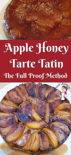 This golden apple honey tarte tatin also sometimes referred to as up-side down pastry is made with caramelized fruit cooked in butter and sugar then baked under a rich butter based puff pastry. The soft juicy and caramelized apples in this just melt in the mouth having absorbed all the flavors and slow cooking. via @Veenaazmanov