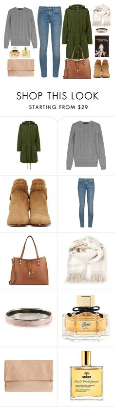 """""""Untitled #299"""" by bojana-687 ❤ liked on Polyvore featuring Marc by Marc Jacobs, Ralph Lauren Black Label, Yves Saint Laurent, Calvin Klein, Lemaire, Hermès, Gucci, Nuxe, Boots and jeans"""