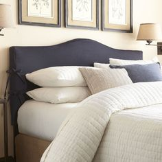 Found it at Wayfair - Watts Slipcovered Headboard Slipcovered Headboard, King Headboard, Panel Headboard, Slipcovers, Headboard Ideas, Shelves In Bedroom, Adjustable Beds, Traditional Furniture, Bedrooms