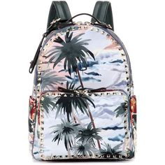 Valentino mytheresa.com Online Exclusive Printed Backpack ($2,420) ❤ liked on Polyvore featuring bags, backpacks, bolsas, multicoloured, backpack bags, multi color backpack, knapsack bag, multicolor bag and colorful backpacks