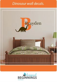 Dinosaur wall decals to easily decorate your child's walls.