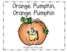 pumpkin unit week 2 Orange Pumpkin, Orange Pumpkin -- Halloween version of Brown Bear, Brown Bear What Do You See? Halloween Activities, Holiday Activities, Classroom Activities, Classroom Ideas, Preschool Halloween, Halloween Ideas, Halloween Crafts, Reading Activities, Halloween Songs
