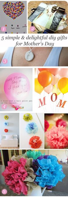 easy last minute crafts and presents that kids can make their moms #presents #mothersday