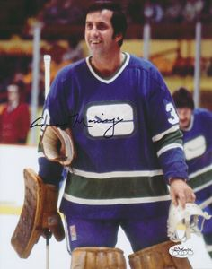 Cesare Maniago with the Canucks in the mid-1970's.