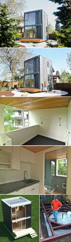 A 264 sq ft tiny house that can be rotated