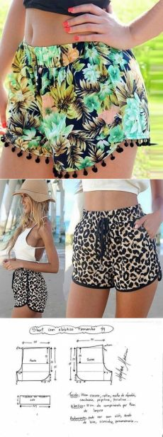Sewing shorts pattern costura 44 ideas - Welcome to our website, We hope you are satisfied with the content we offer. Diy Shorts, Sewing Shorts, Sewing Dress, Sewing Clothes, Diy Clothes, Sewing Diy, Diy Dress, Easy Sewing Patterns, Clothing Patterns