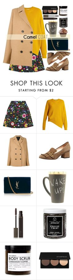 """Wear a camel coat!"" by alaria on Polyvore featuring Victoria, Victoria Beckham, STELLA McCARTNEY, MSGM, Gucci, Yves Saint Laurent, Laura Mercier, Little Barn Apothecary, Fig+Yarrow, Smashbox and camelcoat"
