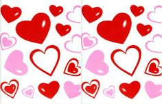 """Red & Pink Hearts Vinyl Removable Repositionable Wall Decals by Nantucket Home. $2.49. Two 10"""" x 11"""" Sheets. Won't Harm Walls. Create Your Own Design. Repositionable & Reusable. Peel & Stick Vinyl Decals. Red & Pink Hearts Wall Decals."""