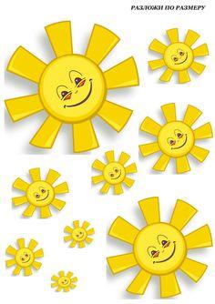 "(no words - Ordn efter størrelse"") --Smiley Faces Math 4 Kids, Preschool Math, Math Activities, Crafts For Kids, Arts And Crafts, Cartoon Elephant, Rejoice And Be Glad, File Folder Games, Good Morning Sunshine"