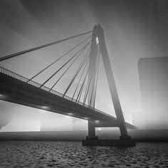 Some sort of a bridge and a lot of fog. #dailyrender #cinema4d #c4d #daily #day56 #overlake #render #graphics #design #brigde #B&W by overlakerenders