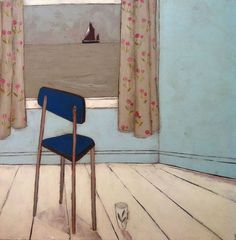 Original art and paintings by Jo Oakley, London and Whitstable artist Graphic Illustration, Illustrations, Drawing Projects, Painted Chairs, Window Art, Art Studies, Love Painting, Mixed Media Canvas, Learn To Paint