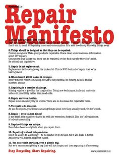 15 Most Inspiring Graphic Manifestos | EcoSalon | Conscious Culture and Fashion