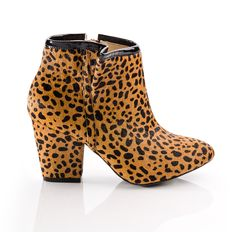 {the Esther boot} by ShoeMint - in leopard... MEOW!
