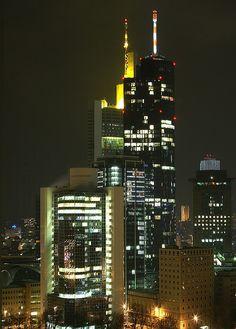 Frankfurt, feeling like Manhattan..Party till early in the morning,  main tower