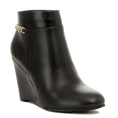 295cf830c5d6 Alex Black Wedge Bootie The Alex Bootie in black features our