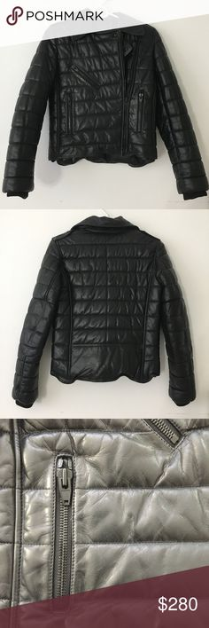 Alexander Wang x H&M Padded Leather Jacket Authentic Alexander Wang x H&M Padded Leather Jacket in black. No tags, never worn. Highly sought after piece from the collection, timeless and cool. This perfect investment item goes with everything season by season. Alexander Wang Jackets & Coats
