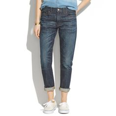 """Madewell Rivet + Thread Selvedge Boyjean Worn once - like new condition! 100% cotton with 9"""" rise. 30"""" inseam. Relaxed fit. I'm usually a 25 in most jeans (including Madewell skinny jeans), and these fit perfectly. Madewell Jeans Boyfriend"""