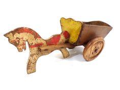 ancien jouets alsace en bois peint