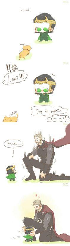 Kneel || Thor & Loki || Cr: Alexa