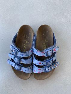 f2d2b9e33604 Birkenstock Papillio KIDS light blue floral 3 Strap Open Toe  fashion   clothing  shoes  accessories  kidsclothingshoesaccs  girlsshoes (ebay link)