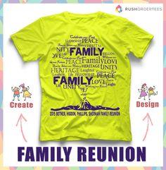 family reunion t shirt ideas create your custom family reunion t