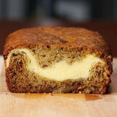Cheesecake-filled Banana Bread Recipe by Tasty