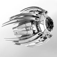 ArtStation - 27 Days of Spaceships, Andrew Hodgson Alien Spaceship, Spaceship Concept, Spaceship Design, Robot Concept Art, Concept Ships, Environment Concept Art, Robot Art, Drones, Alien Ship