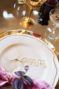 Twist up some Gold Wire for unique Name Cards