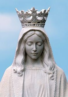 Crowned Blessed Mother Statue