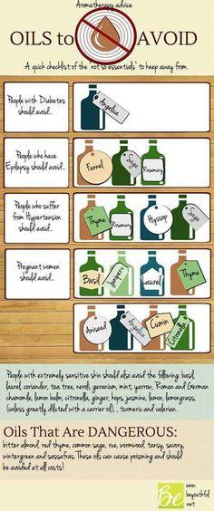 Oils to avoid