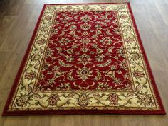 £64.99 160x230 SMALL MEDIUM EXTRA LARGE CLASSIC TRADITIONAL DESIGN RUGS RUNNERS BLUE RED CREAM | eBay