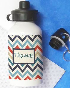 The bottles hold 400 ml of water and come with 2 cap fittings. The drinks bottles are ideal for school or sports clubs. They also make great birthday gifts. Personalised Drink Bottles, Personalized Gifts, Handmade Gifts, Kids Bottle, Big Red Bus, Great Birthday Gifts, Drinks, How To Make, Etsy