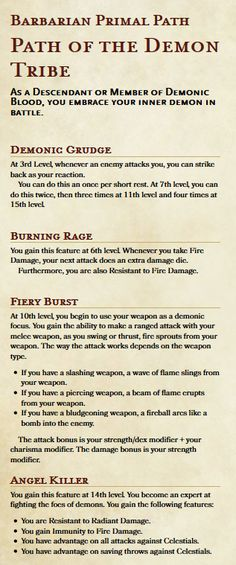 198 Best 5e DnD info images in 2019 | Dnd 5e homebrew, Role