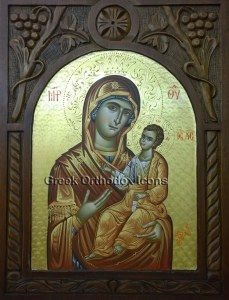 Virgin Mary Hodegetria. For more go to https://greekorthodoxicons.wordpress.com/2015/12/02/virgin-mary-hodegetria/