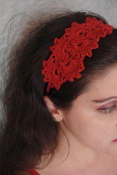 Royal Crochet Headband. $13.00, via Etsy.