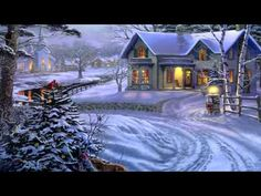 Enjoy Romantic nights with Winter Love Quotes for her and him with cute images. Inspirational love Sayings for cold winter to romance Bob Ross, Thomas Kinkade Art, Thomas Kinkade Christmas, Winter Wallpaper, Christmas Wallpaper, Snow Scenes, Winter Scenes, Christmas Scenes, Christmas Art