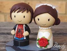 Spiderman wedding cake topper
