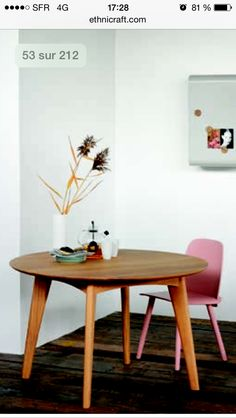 1000 ideas about table ronde bois on pinterest table for Table ronde en bois ikea