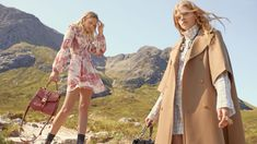 Chloe travels to the Scottish Highlands for its fall-winter 2019 campaign. Rising stars Eliza Kallmann and Kat Carter pose outdoors in images captured by Shayne… Chloe Brand, Spring Fashion, Autumn Fashion, Chloe Clothing, Campaign Fashion, Joan Smalls, Fresh Face, Kenzo, Cool Style