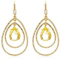 Juicy Couture Pave Teardrop Orbital Earring ($40) ❤ liked on Polyvore