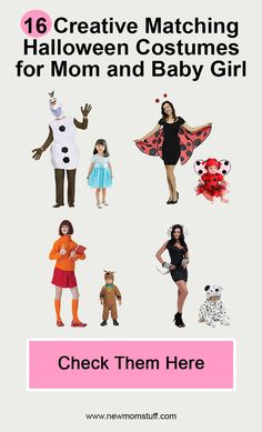 Looking for matching Halloween costumes for mom and baby daughter. Here's more than a dozen idea to help you out. Matching Halloween Costumes, Mom Costumes, Newborn Halloween, Baby Girl Halloween Costumes, Newborn Schedule, Baby Development, Maternity Pictures, Mom And Baby, Parents