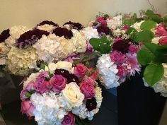 here we go bridal bouquet and bridesmaids bouquets and pew decor