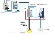 Esquemas eléctricos: minutero escalera con contactor